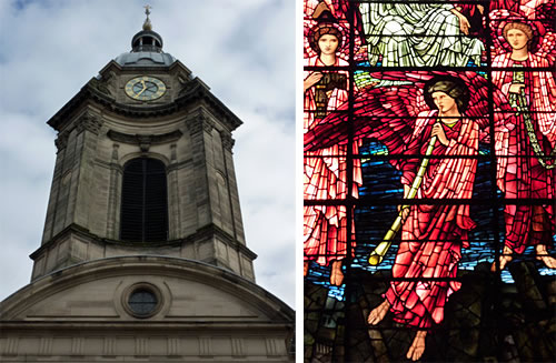 Birmingham Cathedral, with Pre Raphaelite Stained Glass Windows