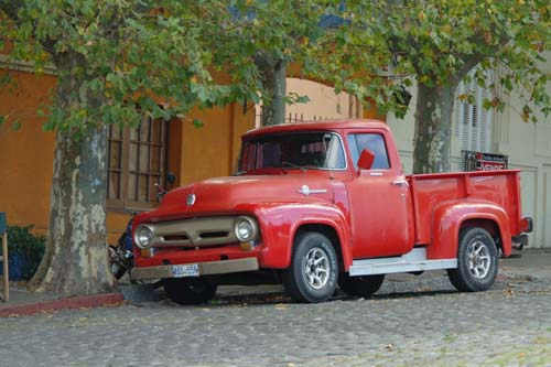 The cars of Colonia del Sacramento