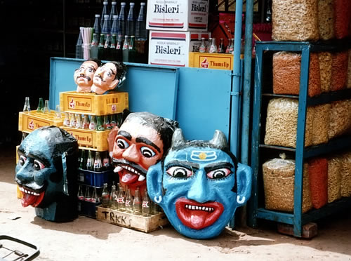 ark3 goa india 1993 diwali masks