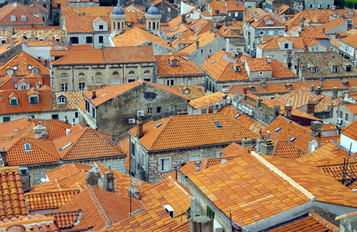 Dubrovnik Old City roof tops