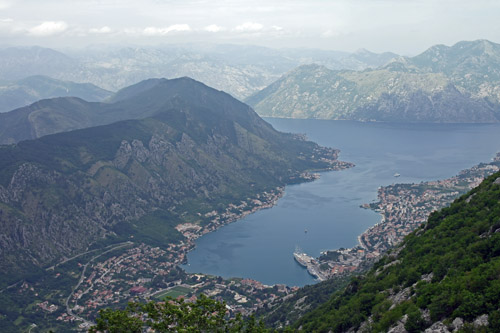 Town of Kotor with cruise ships