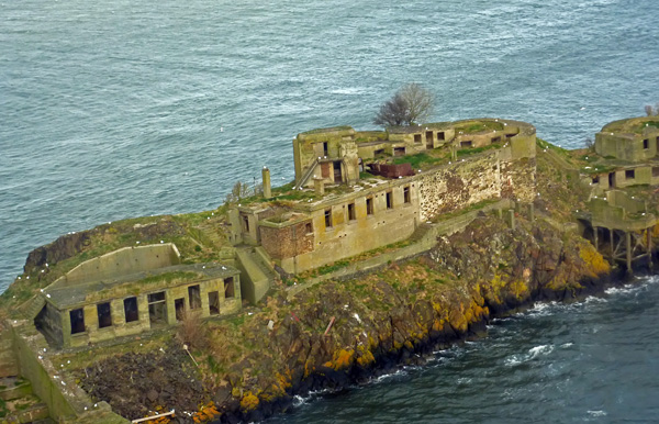 Inchgarvie Island in the Firth of Forth
