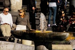 The Spanish Steps - fountain