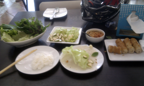 Vietnamese style lunch