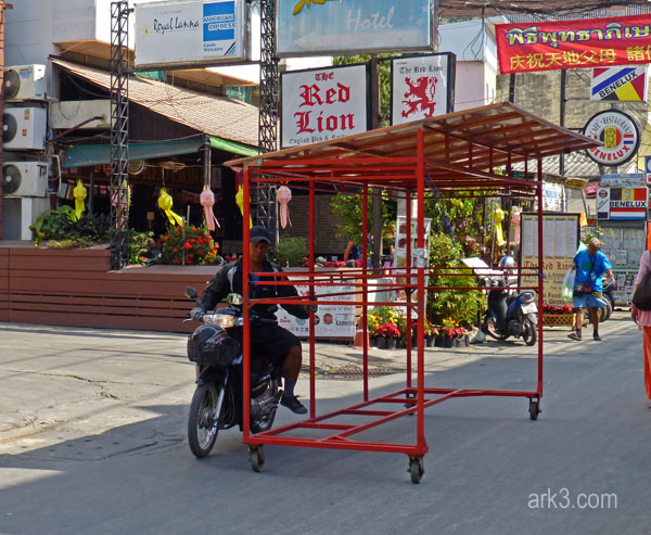 Market stall on the move