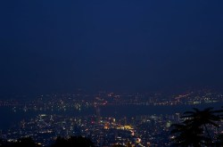 Penang Hill - night view, Butterworth on the mainland in the distance