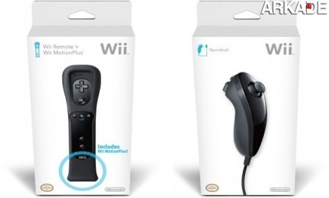 Nintendo lança Wii Remote, Motion Plus e Nunchuk pretos