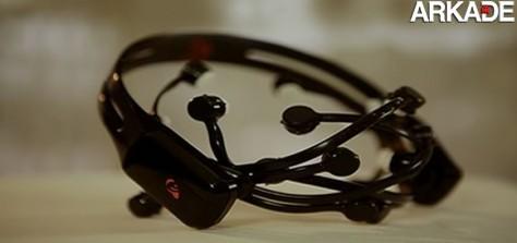 Headset que permite jogar videogame pelo controle da mente