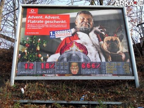 """Artistas fazem """"tributo a Doom"""" em outdoors alemães"""