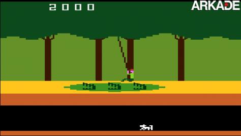 Vídeo de Jack Black no comercial do jogo Pitfall, do Atari 2600