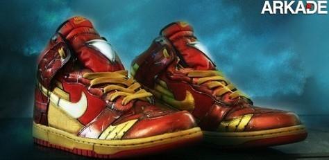 Que tal ter um tênis Nike baseado no filme Homem de Ferro 2?