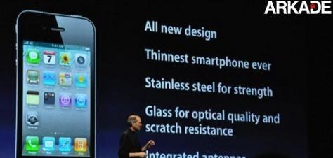 iPhone 4 é revelado oficialmente por Steve Jobs