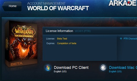 Beta fechado de WoW: Cataclysm - Estamos participando!