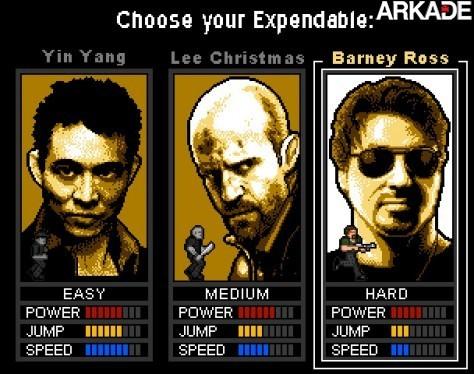 Jogue um game 8-bits inspirado no filme Os Mercenários