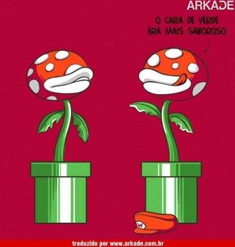 O que uma Piranha Plant disse para outra Piranha Plant?