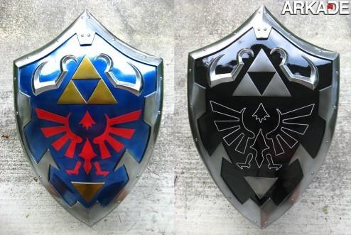 Réplicas perfeitas da Master Sword e do Hylian Shield de Link