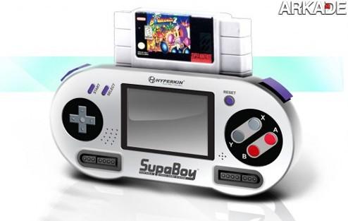 SupaBoy: um Super Nes portátil retrô que roda os antigos cartuchos