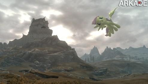 Bizarro mod de Skyrim transforma dragões em pôneis malditos!