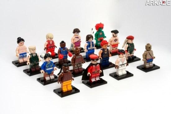 Da série #euquero: lutadores de Street Fighter feitos de Lego