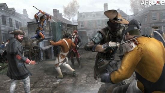 Assassin's Creed III: novos trailers mostram matança multiplayer e batalhas navais