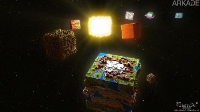 Curte Minecraft? Então fique de olho em Planets³, RPG com um universo inteiro a ser explorado