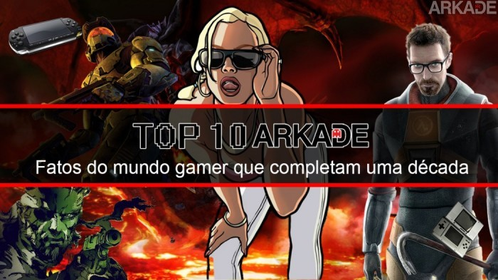 Top 10 Arkade: Fatos do mundo gamer que completam uma década