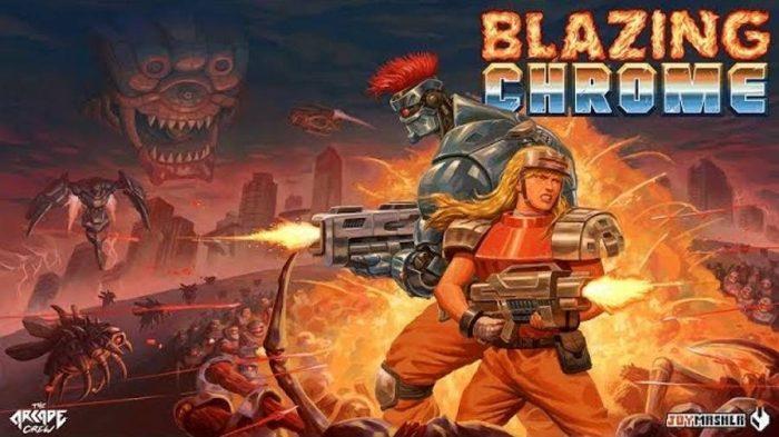 Blazing Chrome: shooter 2D brasileiro ganha novo trailer e chama a atenção de Elon Musk