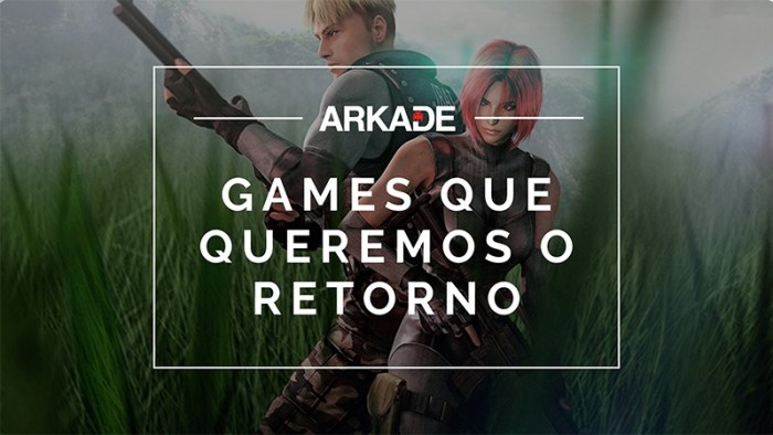 Top 10 Arkade - Games que queremos que voltem