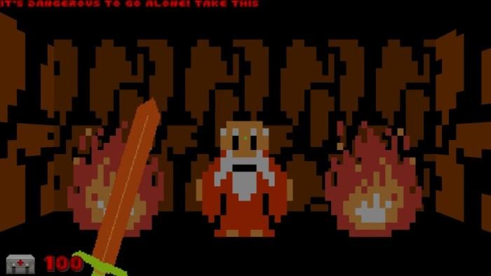 Este mod transforma o bom e velho DOOM em uma versão FPS do primeiro Zelda!
