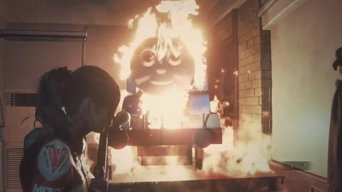 Alguém colocou Thomas o Trem em Resident Evil 2 e o pesadelo se instaurou