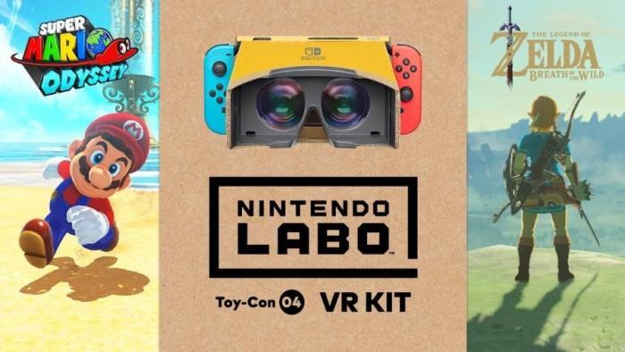 Zelda: Breath of the Wild e Super Mario Odyssey ganham suporte ao Nintendo Labo VR