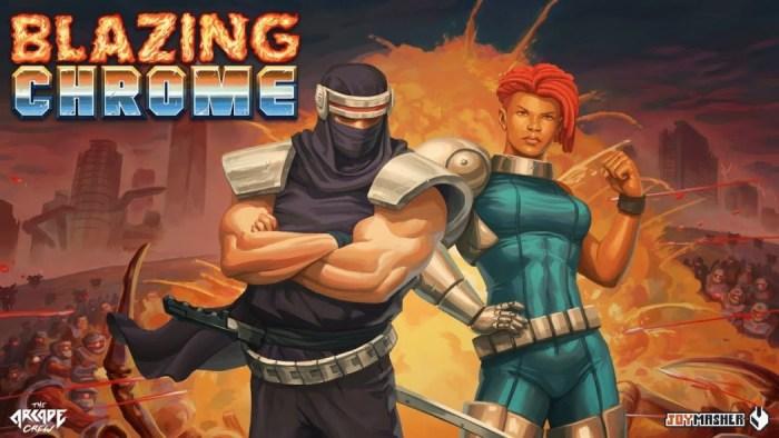 Blazing Chrome: jogo brasileiro revela personagens secretos e data de lançamento