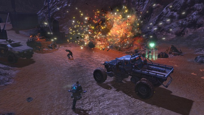 Red Faction Guerrilla Re-Mars-tered é um bom companheiro no modo portátil do Switch.