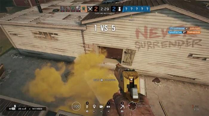 Este jogador de Rainbow Six tentou desistir da rodada e olha só o que aconteceu!