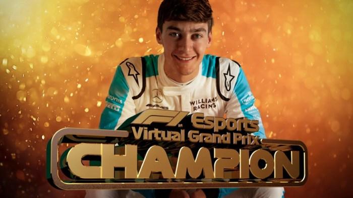 George Russel é o campeão da temporada da Fórmula 1 2020 Virtual
