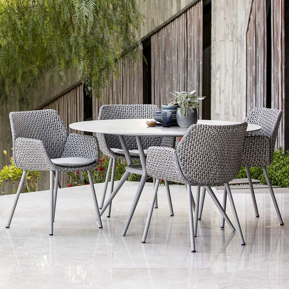 chaise de jardin vibe resine tressee haut de gamme cane line