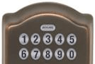 Image of the door entry Keypad