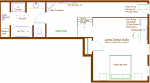 De Mun suite floorplan