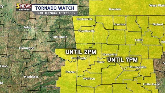 NEW: Tornado Watch Until This Evening