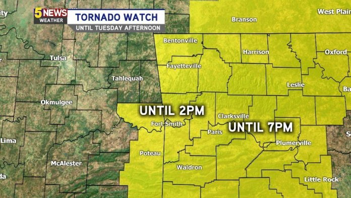 NEW: Tornado Watch Until This Evening