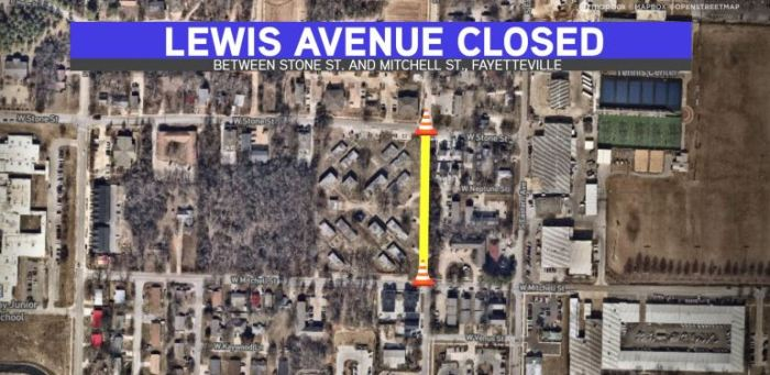 Lewis Avenue In Fayetteville Closed Next Two Days For Utility Work
