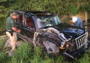 Rollover Crash Into A Creek – MONTGOMERY COUNTY