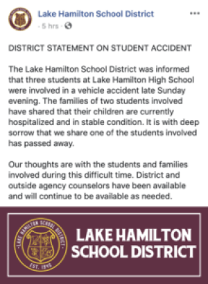 3 LHHS Students Thrown From Jeep Crash; 1 Killed - MONTGOMERY COUNTY
