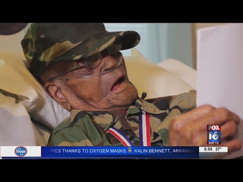 VIDEO: 110-year-old veteran