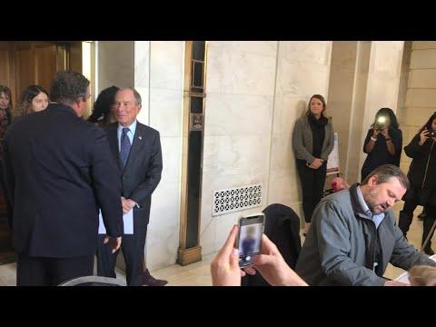VIDEO: Michael Bloomberg at Arkansas State Capitol
