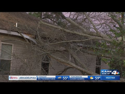 VIDEO: Severe weather causes damage to Haskell homes and baseball field