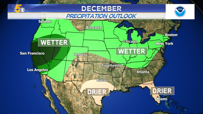 Warmer December Expected Across The Southern Plains