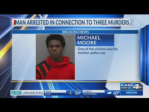 VIDEO: Update: Man arrested in connection to three deaths in Pine Bluff