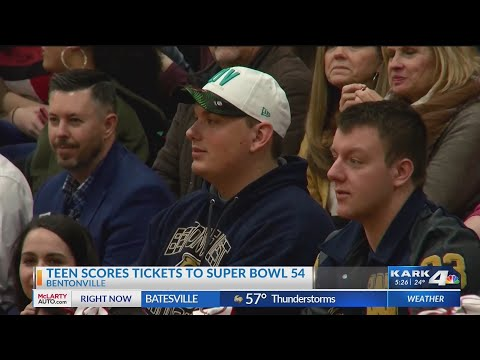 Watch: Make-A-Wish: Bentonville teen going to Super Bowl