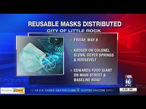 Watch: City of Little Rock will start distributing reusable masks